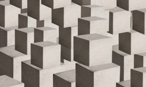 Background with abstract heap of boxes